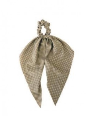 Darling Scrunchie in Taupe Polka